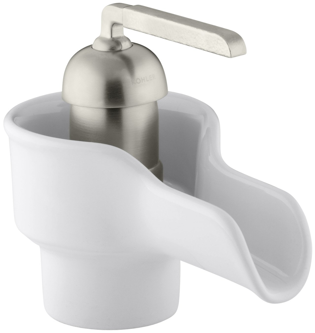 KOHLER K-11000-0 Bol Ceramic Faucet, White - Touch On Bathroom ...