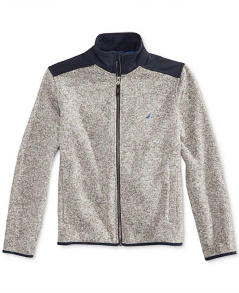 Nautica Boy's Fleece Jacket XL (18/20) Grey Heather