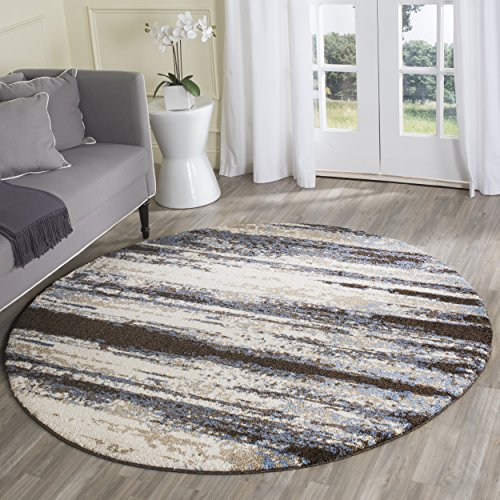 Safavieh Retro Modern Abstract Cream/ Blue Distressed Rug