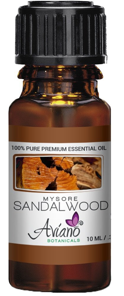 Indian Mysore Sandalwood Essential Oil, 100% Pure, Undiluted, Therapeutic Grade Sandalwood Oil By Avíanō Botanicals – 10ml