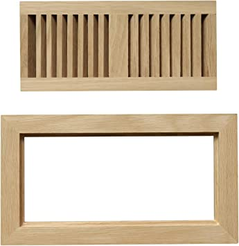 4x10 White Oak Wood Flush Mount Floor Register Vent Cover Unfinished By Welland 3 4 Thickness Heating Vents Amazon Com