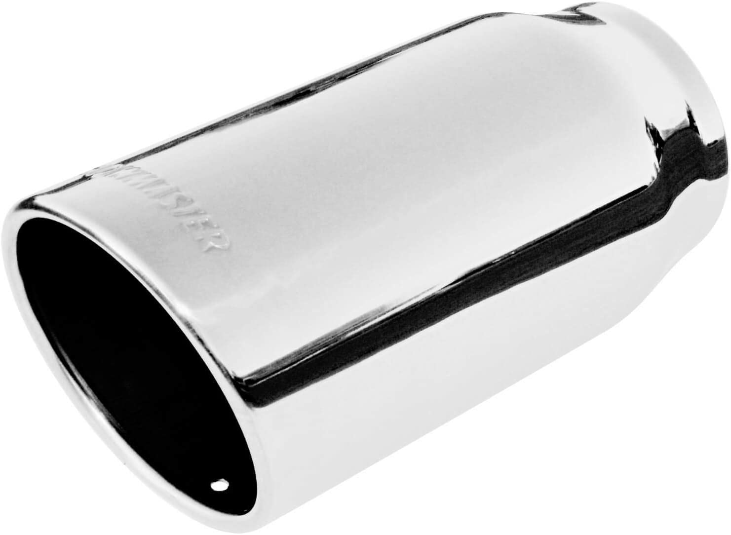 Rolled Angle Polished SS Fits 3.00 in Tubing 4.00 in Flowmaster 15371 Exhaust Tip weld on