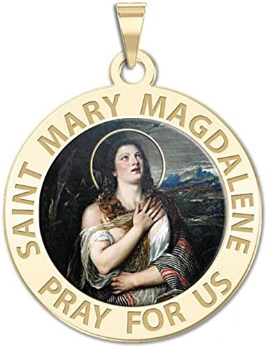 PicturesOnGold.com Saint Catherine of Alexandria Round Religious Medal Color
