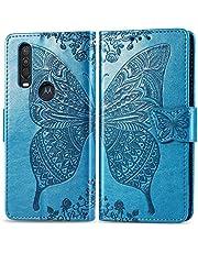 Feyyxi Hoesje voor Motorola One Action Case met Card Slots Flip Magnetische beschermhoes Telefoonhoes voor Motorola Moto One Action - FESD21044 Blauw