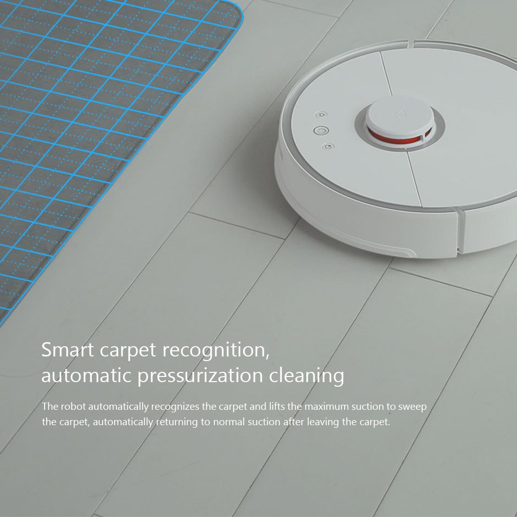 Mi XIAOMI Robot Aspirador 2 Limpieza Inteligente para Home Office Sweep Wet Mopping App Control 5200mAh Battery 2000Pa Sucking Force: Amazon.es: Hogar