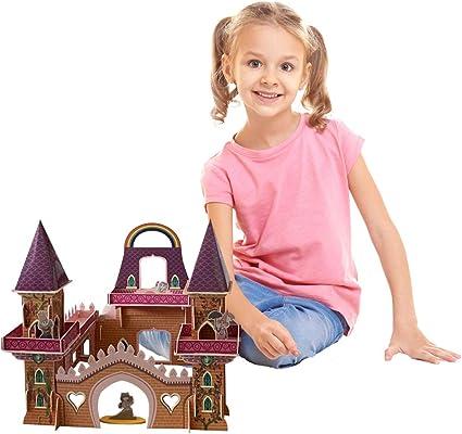 Chateau Princesse, Jeu Construction Enfant Puzzle 3D Loisirs créatifs Fille à partir de 6 Ans. Chateau Fort Jouet. Jeu Maison activites manuelles pour