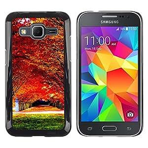 "For Samsung Galaxy Core Prime / SM-G360 , S-type Naturaleza Hermosa Forrest Verde 78"" - Arte & diseño plástico duro Fundas Cover Cubre Hard Case Cover"