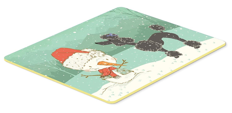 Caroline's Treasures CK2064JCMT ブラックプードル 雪だるま クリスマスキッチンまたはバスマット 高さ24x幅24 x 幅36 マルチカラー   B07J1S58CD