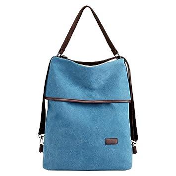 18803a84db90a2 PB-SOAR 3-in-1 Damen Vintage Canvas Tasche Rucksack Handtasche  Schultertasche Rucksackhandtasche