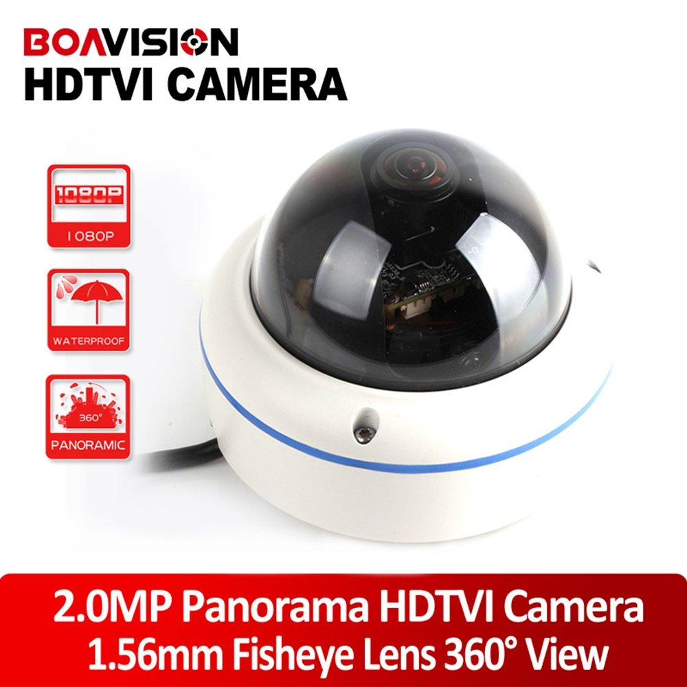 Full View 180 360 Degree Fisheye 2.0MP Panoramic HDTVI Camera Outdoor 1080P Lens CCTV