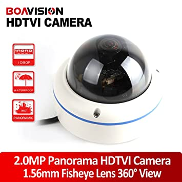 BOAVISION Full View 180 360 Degree Fisheye 2.0MP Panoramic HDTVI Camera Outdoor 1080P Lens CCTV Trail   Game Cameras