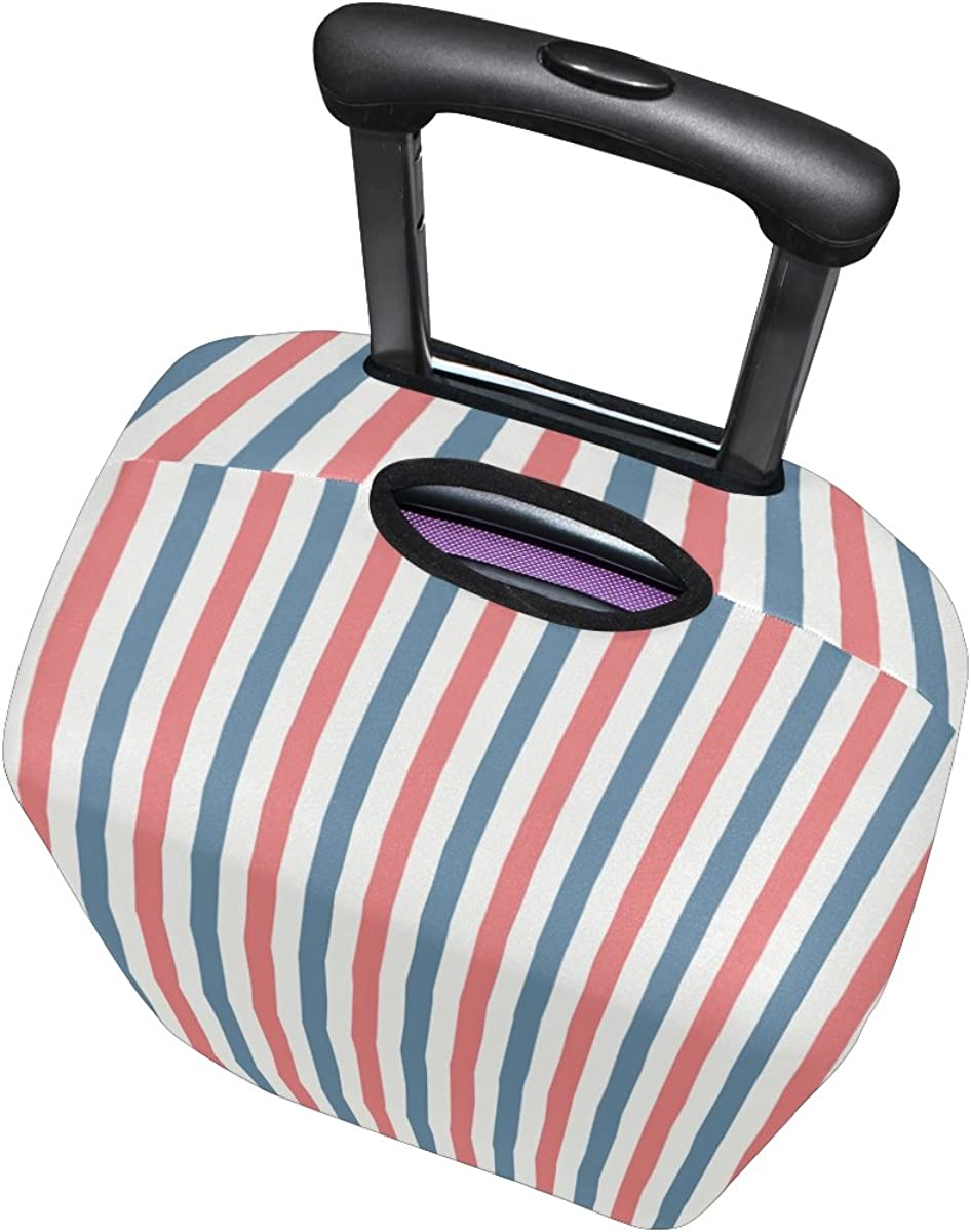 Abbylife Stripes Luggage Cover Suitcase Protector Fits 18-20//22-24 Inch