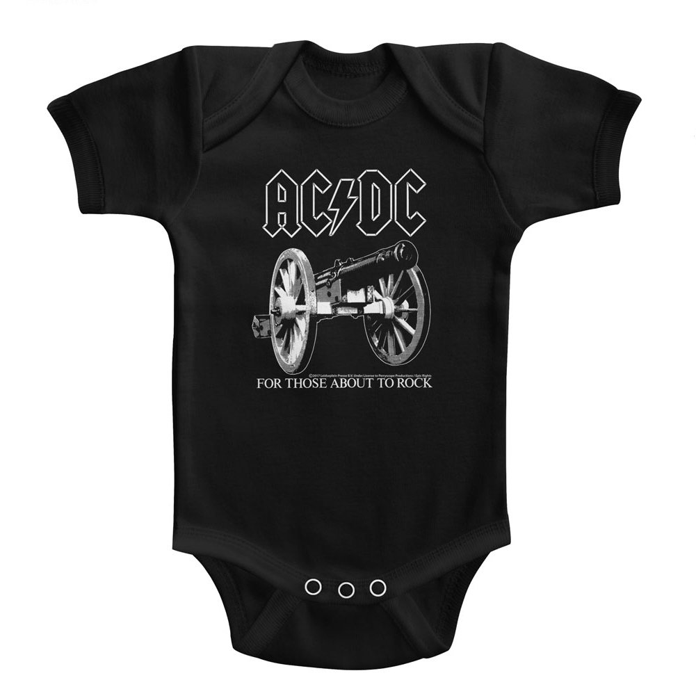 AC//DC Infant Bodysuit for Those About to Rock Black Romper