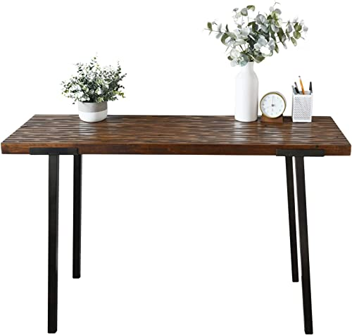 Rectangle Glass Coffee Table-Modern Side Coffee Table with Lower Shelf Black Metal Legs-Suit for Living Room