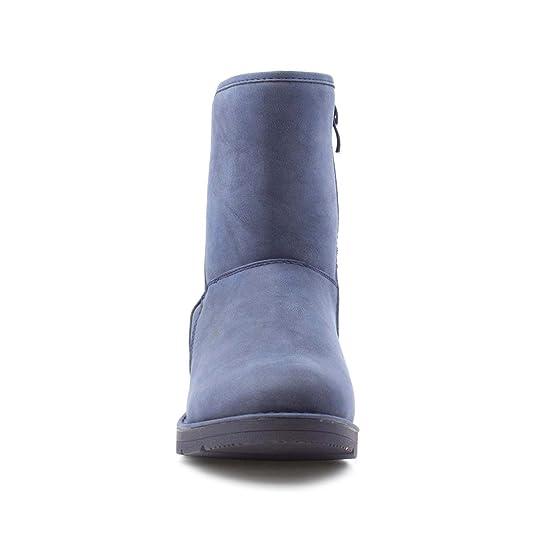 HEAVENLY FEET Keil-Knöchel-Aufladung der Frauen Blaue Niedrige durch Größe 39 - Blau xKzMd