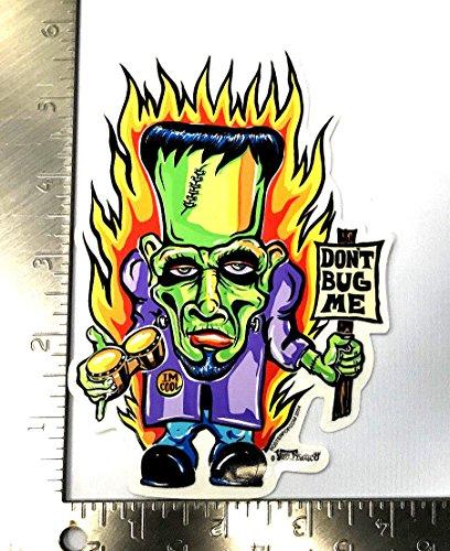 Von Franco Dont Bug Me Sticker Frankenstein Decal Halloween Horror (Halloween Bugs Me)