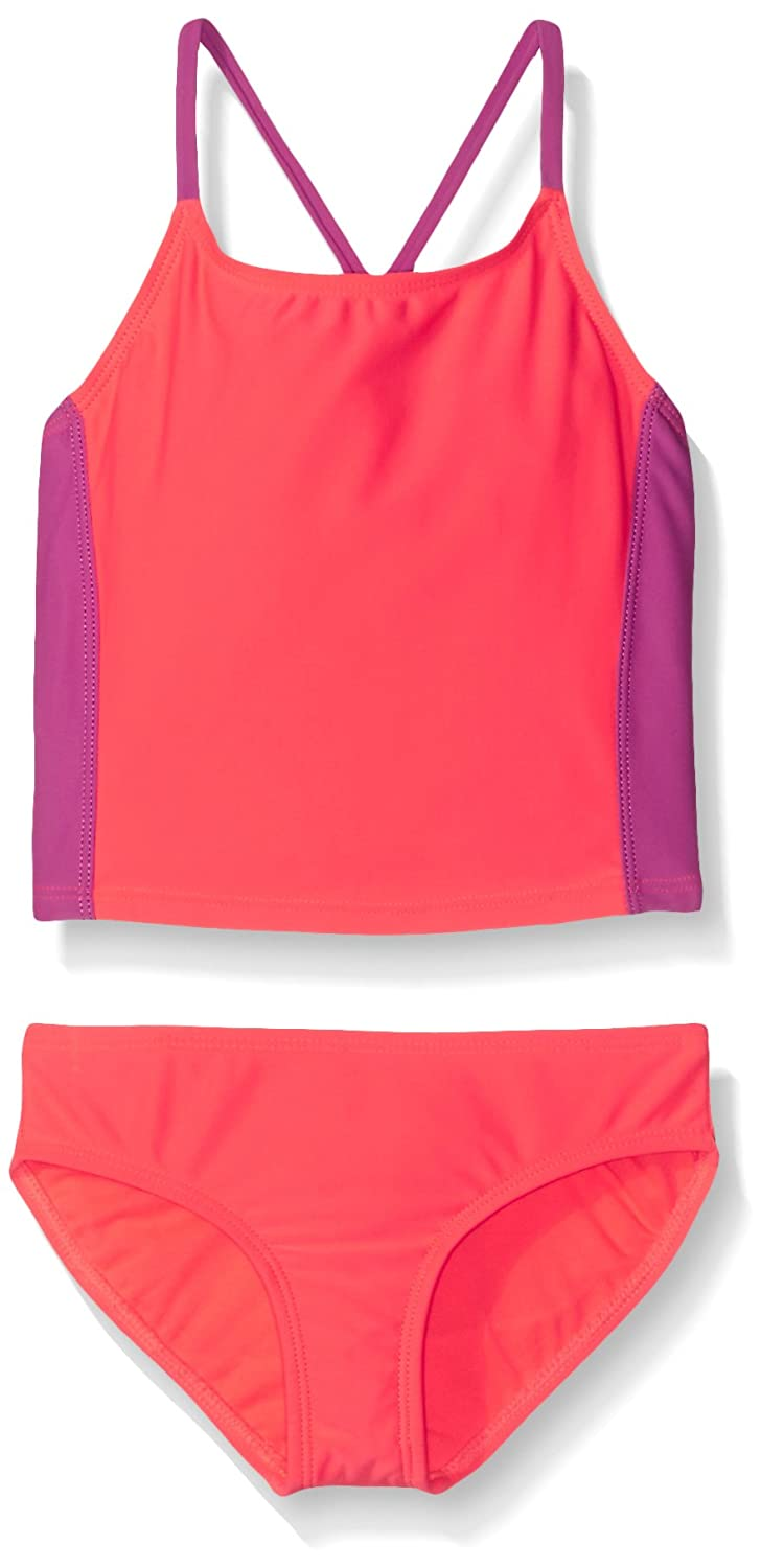 Freestyle Girls Solid Tankini Two Piece Swimsuit