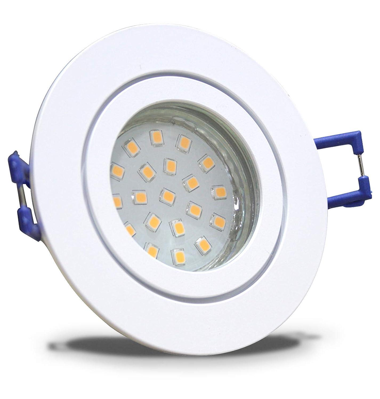5 Stück IP44 SMD LED Bad Einbaustrahler Aqua 12 Volt 5 Watt Rund Weiß Neutralweiß