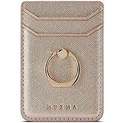 TOPWOOZU Phone Card Holder with Ring Gri...
