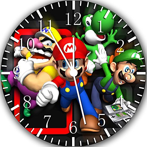 Super Mario Bros. Frameless Borderless Wall Clock Y111 Nice For Gift or Room Wall Decor