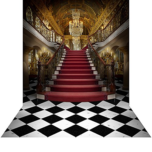 Photography Backdrop with Floor - Palace Opulence - 10x20 Ft. Seamless Fabric