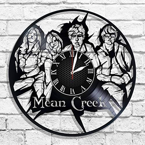 BombStudio Mean Creek Vinyl Record Wall Clock, Mean Creek Handmade for Kitchen, Office, Bedroom. Mean Creek Ideal Wall Poster
