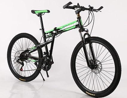 Hycy 26 Pulgadas Plegables Bicicleta De Montaña Doble Frenos De Disco Bicicleta De Montaña Amortiguador De