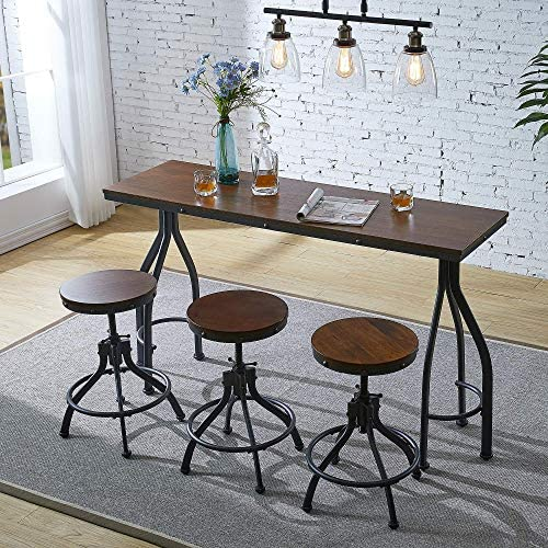 Ehomexpert 4-Piece Counter Height Dining Room Table and Bar Stool