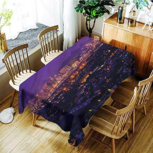 PriceTextile USA,Waterproof Tablecloth Rectangle Phoenix Arizona Full Moon Sky 54
