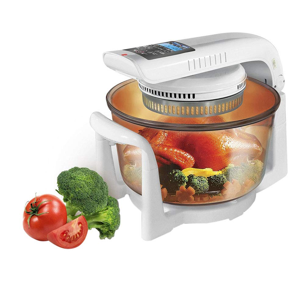 German Pool® 120V 12 Litre Digital Cooking Oven, Convection Turbo, Toaster, Counter top, Halogen Cooking Pot.