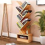Magshion Tree Bookshelf Compact Book Rack Bookcase Display Storage Furniture for CDs, Movies & Books (7 Shelf)