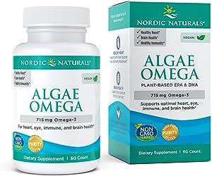Nordic Naturals - Algae Omega, Eye Health, Heart Health, and Optimal Wellness, 60 Soft Gels