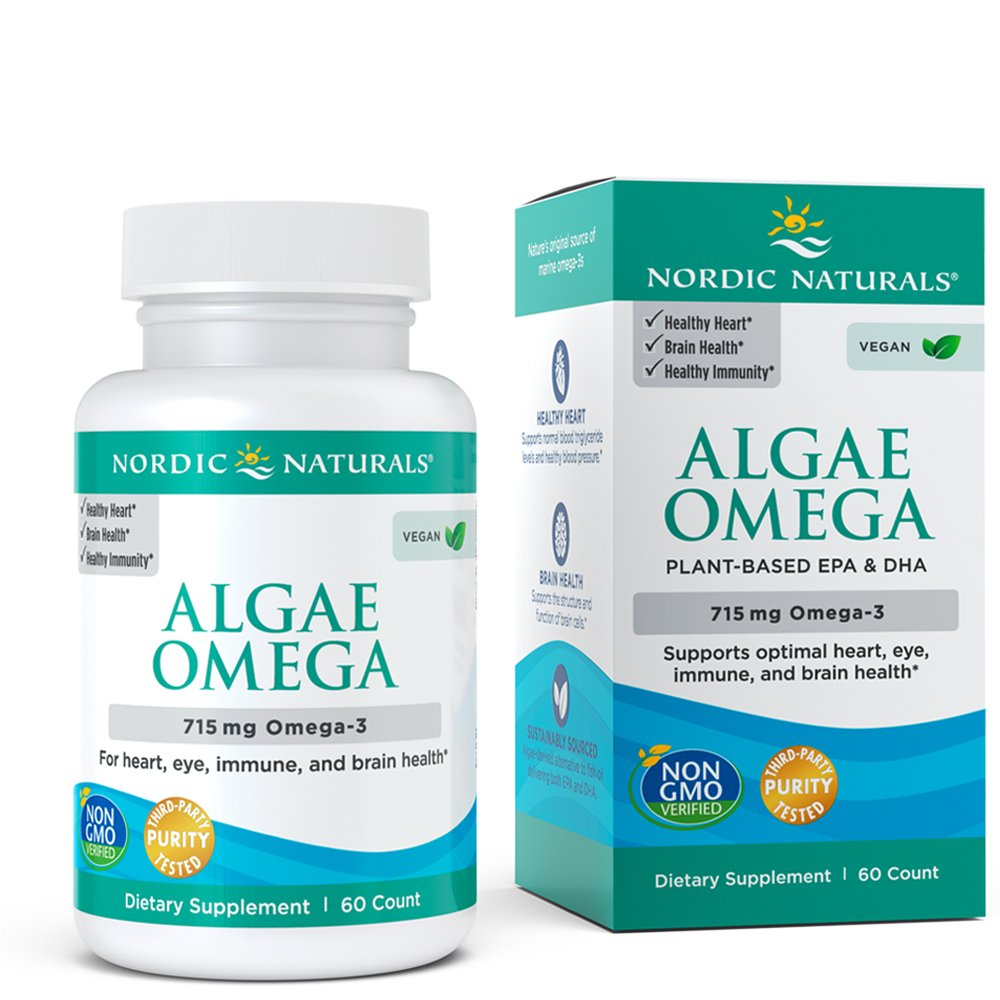 Nordic Naturals - Algae Omega, Eye Health, Heart Health, and Optimal Wellness, 60 Soft Gels