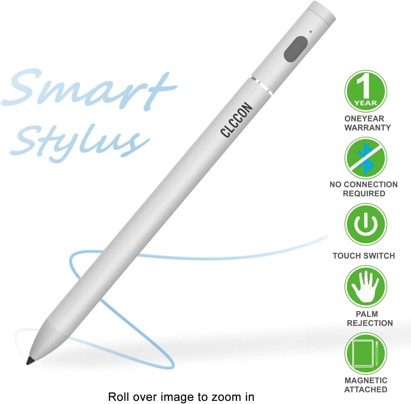 CLCCON Stylus Pen for Apple iPad Air 10.5,iPad Mini 7.9,iPad 7.9,iPad 10.2,iPad Pro 11/12.9 and Launched in 2018&2019