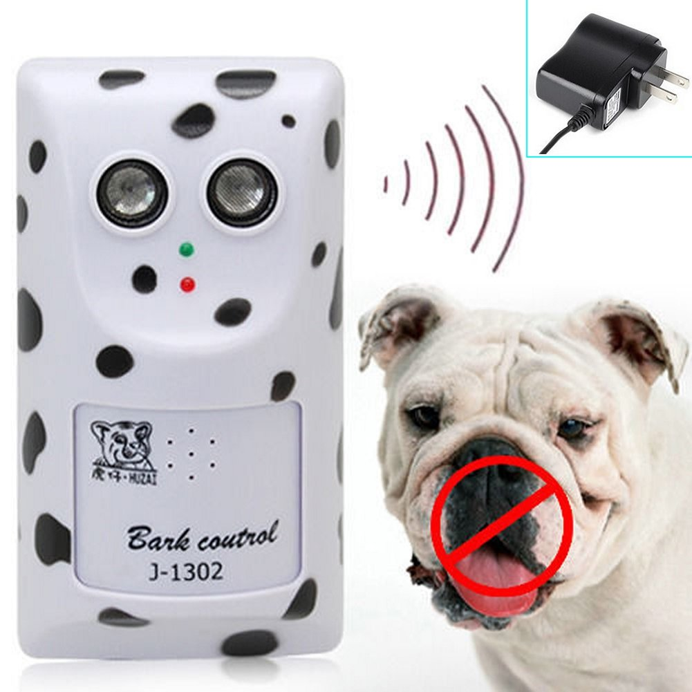 Itemap Humanely Ultrasonic Dog Stop Barking Anti Bark Silencer Hanger Control Device (US Plug)