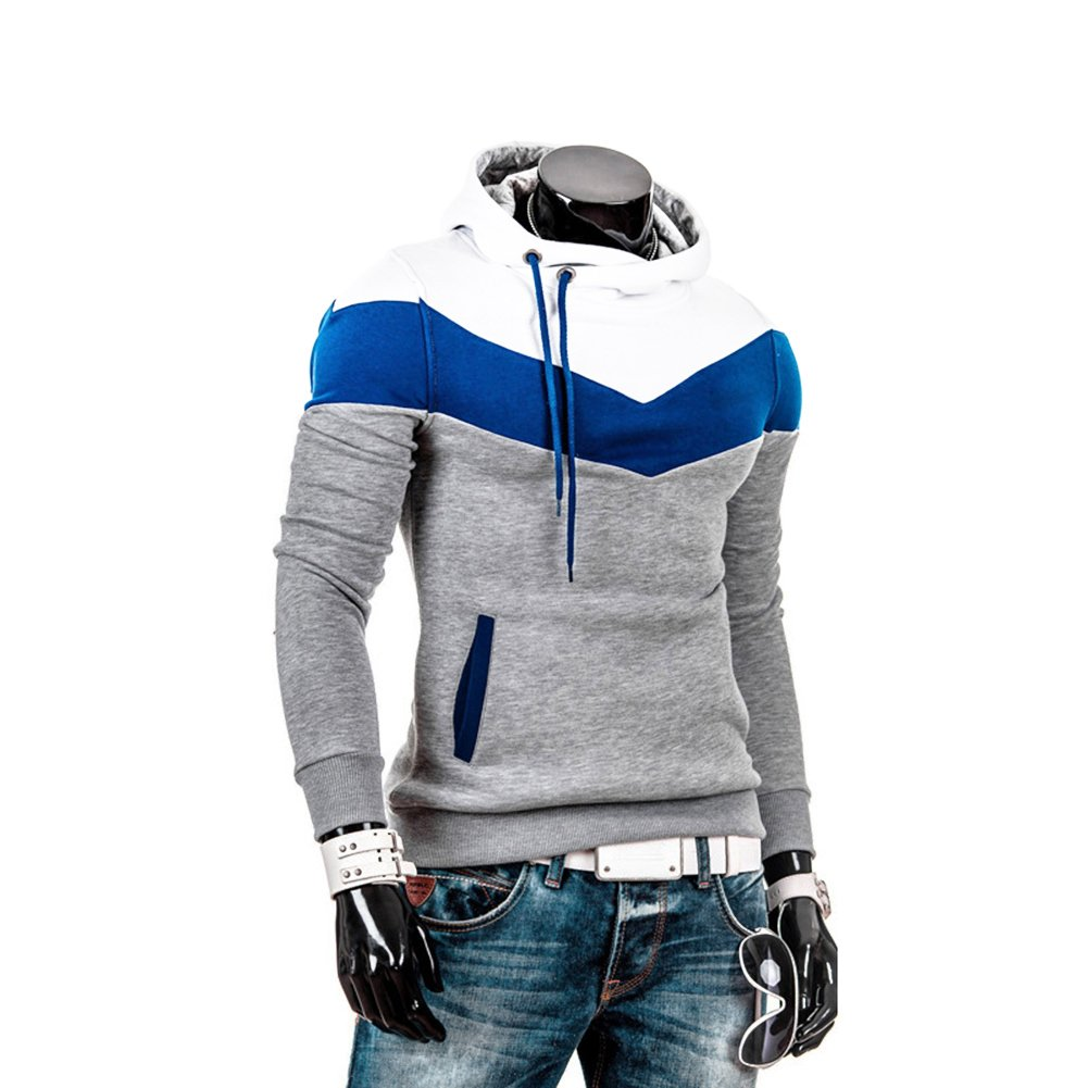 Winever Herren Männer Kapuzenpullover Sweatjacke Streetwear Hoodie Winter  (XXL, Hellgrau)  Amazon.de  Bekleidung 1182986041