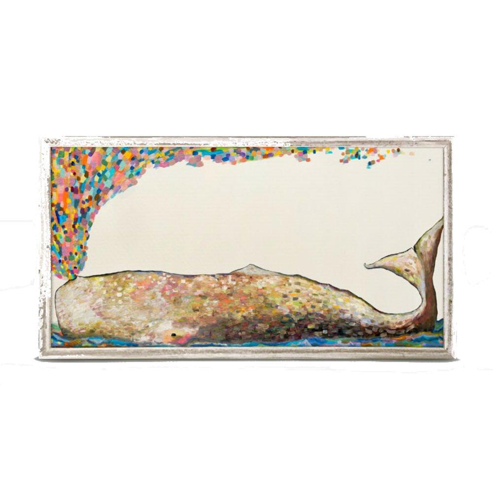 10 x 5 10 x 5 GB001 Whale Spray Mini Framed Canvas Wall Art