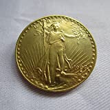 1908 USA $20 Gold-Plated Saint Gaudens Twenty Dollars or Double Eagle Coins COPY