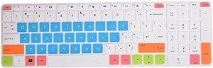 "Leze - Ultra Thin Laptop Keyboard Cover Skin Protector for 15.6"" HP Envy x360 m6-ae m6-aq m6-ar m6-w m6-p Series, Such as m6-ae151dx,m6-ar004dx,m6-aq105dx,m6-ar004,m6-p014dx Laptop - White Blue"