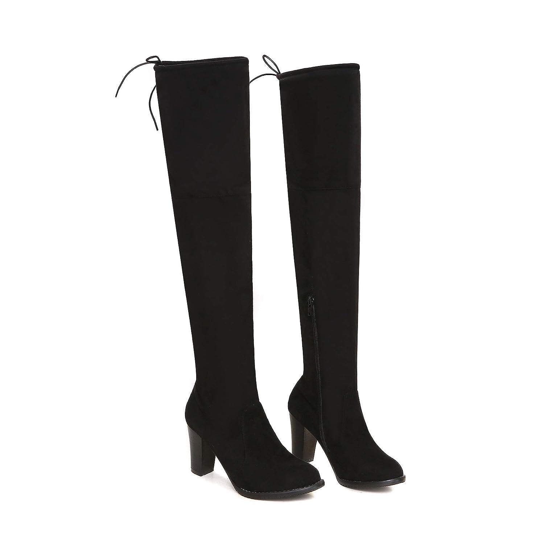 Raue Fersen der Frauen elastische hohe über dem Knie Lange Stiefel