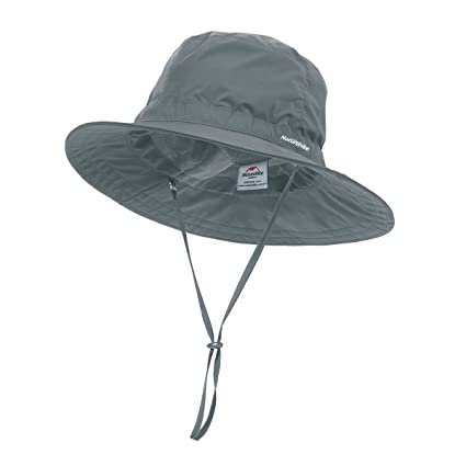 a0673a62783 iBasingo Unisex Spring UV-Protection Ventilate Fishing Hat Summer Bucket Hat  with String Outdoor Angling Equipment Wide Brim Sunproof Hat Boonie Hat for  Men ...