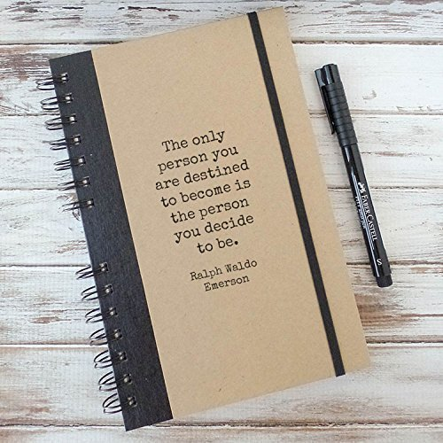 Graduation Gift Quote Journal Notebook Ralph Waldo Emerson