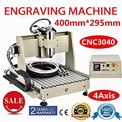 Power Milling Machines, 4 Axis CNC 3040 Router 3D Engraver Engraving Milling Drilling Machine 800W VFD (US Stock)