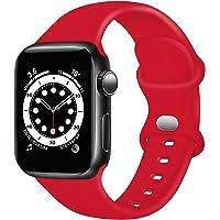 TopPerfekt Pasek kompatybilny z Apple Watch 38 mm, 40 mm, 41 mm, 42 mm, 44 mm, 45 mm, miękki silikonowy pasek zastępczy…