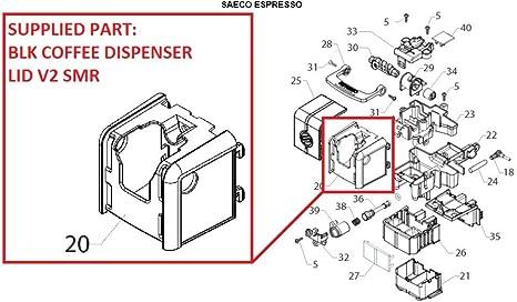 421944023921 porte-Couvercle pour Saeco Minuto Philips Série 3000 série 4000
