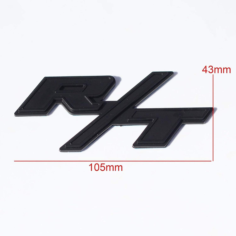 Btopars All Black R//T RT Side Fender Trunk Hatch Emblem Badge Sticker for Dodge Challenger Charger Ram Avenge