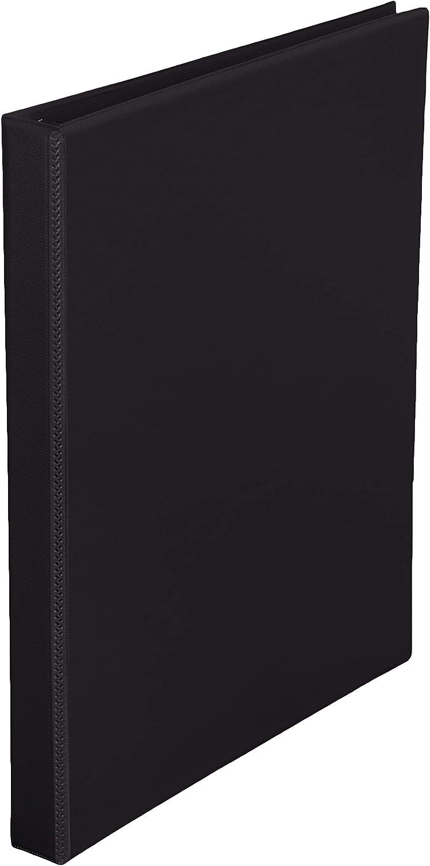 AmazonBasics Durable 1/2-Inch Round Ring Binder, Black, View, 12-Pack