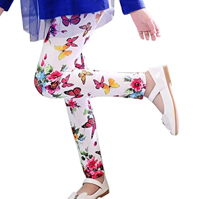 Binmer(TM) Children Kids Trousers Printing Flower Classic Pencil Pants