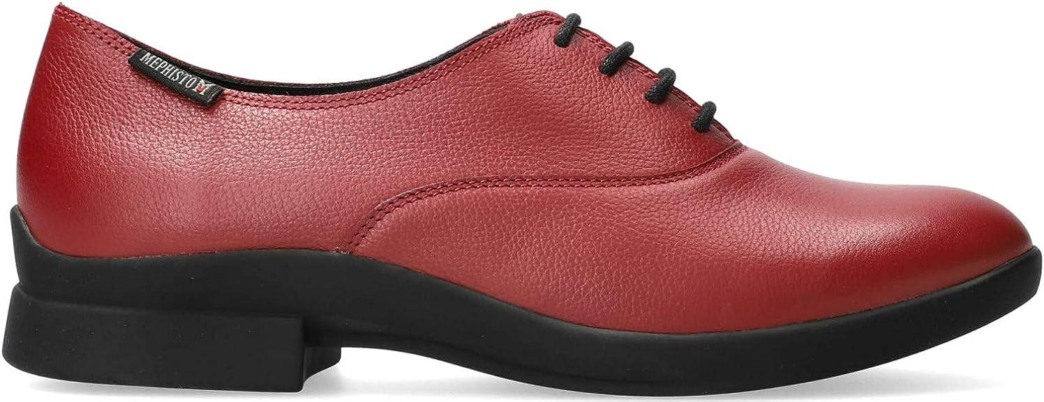 Zapato con Cordones de Piel Mephisto SYLA para Mujer Rojo