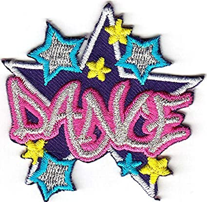 """Iron On Embroidered Applique Patch//Dance Music /""""TAP DANCING/"""" PATCH"""